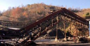Maden ocağında kömür bandı çöktü