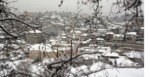 Safranbolu'da kar güzelliği