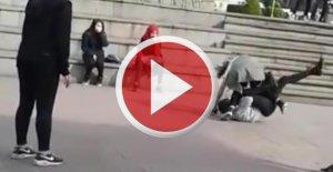 Liseli kızların erkek kavgası