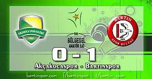 Bartınspor 90'dan Vurdu: 0-1