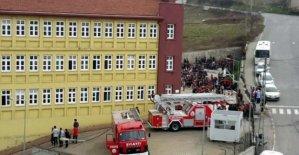 Lisede yangın paniği