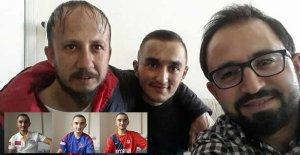 Terör saldırısında bacağını kaybeden gaziye moral ziyareti