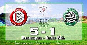 Bartınspor'dan Baraj Provası: 5-1