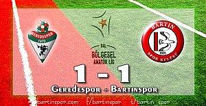 Bartınspor Sezonu 1 Puanla Kapattı: 1-1