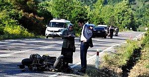 Kaymakamın makam otomobilinin çarptığı motosiklet sürücüsü öldü