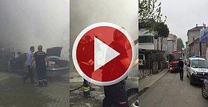 LPG'li Araç Yangını Paniğe Neden Oldu