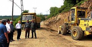 40 Kilometre Köy Yolu Genişletildi