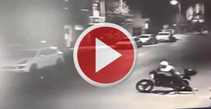 Sahur vaktinde motosiklet hırsızlığı kamerada