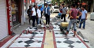 Şadırvan Caddesi'nde Çalışmalar Tam Gaz