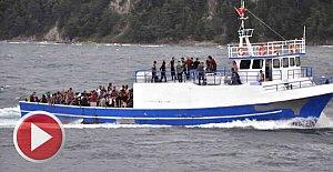 Amasra Açıklarında 382 kaçak göçmen yakalandı