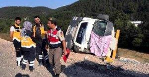 Devrilen hafriyat kamyonunun sürücüsü öldü