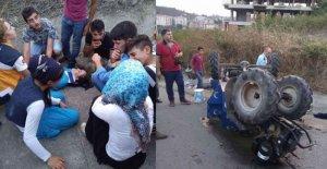 Fındık işçilerini taşıyan pat pat devrildi: 5 yaralı