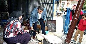Başkan, Esentepe'de Fırın Açtı, Yufka Pişirdi
