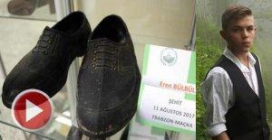 Şehit Eren Bülbül'ün Kara Lastik Ayakkabısı Müzede