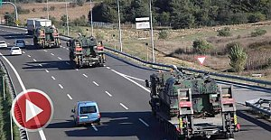 Sınıra TIR'larla tank sevkiyatı
