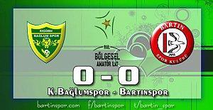 Bartınspor Ankara'da Dondu: 0-0