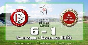 Bartınspor'dan Yarım Düzine Gol: 6-1