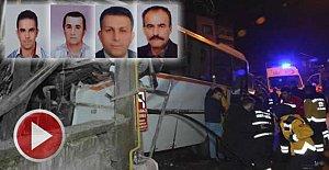 Eve çarpan midibüste ölen 4 kişi toprağa verildi