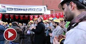 Madenciler, Mehmetçik için dua edip kurban kesti
