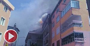 Amasra'da korkutan yangın