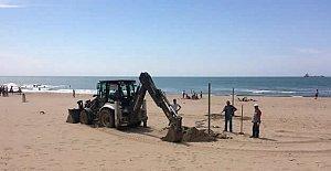 İnkumu Beach Voley Turnuvasına Hazırlanıyor