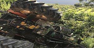 Fındık bahçesine uçan traktörün sürücüsü öldü