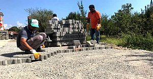 Yeni Açılan İmar Yoluna Beton Parke