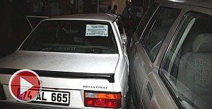 Alkollü Sürücü Galeriye Daldı