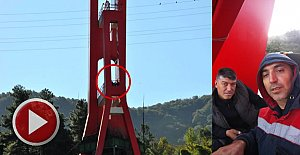 50 metre Yükseklikteki Eylem Sürüyor