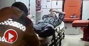 Eylem Yapan İşçi Hastaneye Kaldırıldı