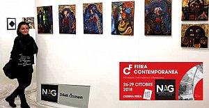 Bartınlı Ressam İtalya'da Sergi Açtı