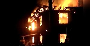 Amasra'da 2 Katlı Evde Yangın