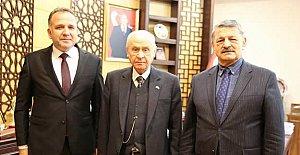 Başkan Akın MHP Genel Merkezi'nde