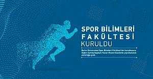 Bartın'da Spor Bilimleri Fakültesi kuruldu