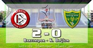 Bartın'da Güneşli Pazar: 2-0