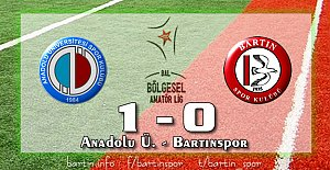 Bartınspor'a 30.saniye şoku: 1-0