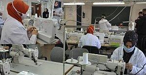 Bartın'da Maske Üretimine Başlandı