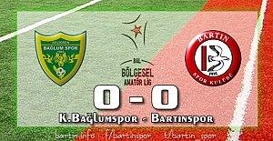 Bartınspor Ankara'dan 1 Puan Çıkardı: 0-0