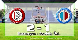 Bartınspor'da Fatih Attı, Selamı Çaktı: 2-1