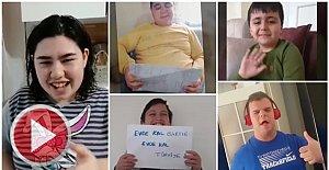Engelli Öğrencilerden Evde Kal Bartın Mesajı