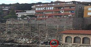 Amasra Kalesinin Surlarından Düştü
