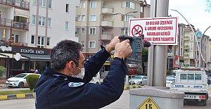 Sigara İçilmesi Yasaklanan Caddelere Uyarı Levhaları