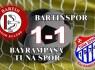 Bartınspor evinde tek'ledi: 1-1