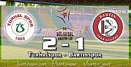 Bartınspor Tokat'tan Eli Boş Dönüyor: 2-1
