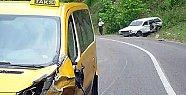 Kozcağız Hasankadı Yolunda Kaza: 1 Yaralı