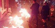 Caddeyi Ateşe Verdi