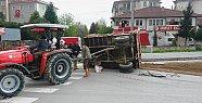 Çatmaca Kavşağında Romörk Kazası