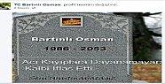 Facebook'ta Mezar Taşını Paylaşmış