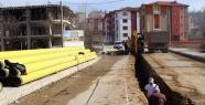 Kadıoğlu Sokak'ta Doğalgaz çalışmaları