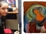 Ressam Dilek Özmen eserleriyle 7.Edebiyat Günleri'nde